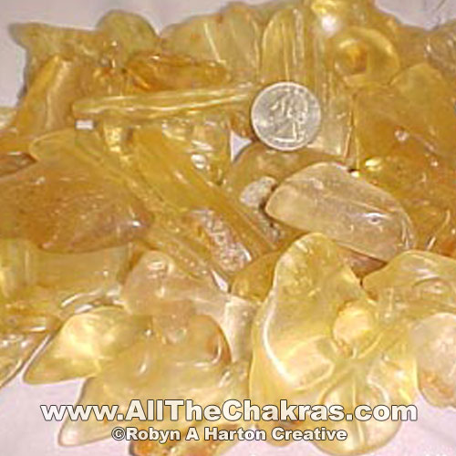 Amber, particularly in shades of yellow, is a   Solar Plexus Chakra stone  .
