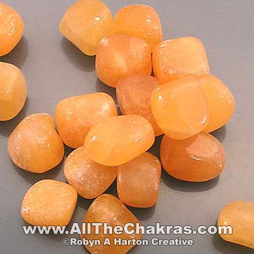 Orange calcite is a sacral chakra stone.