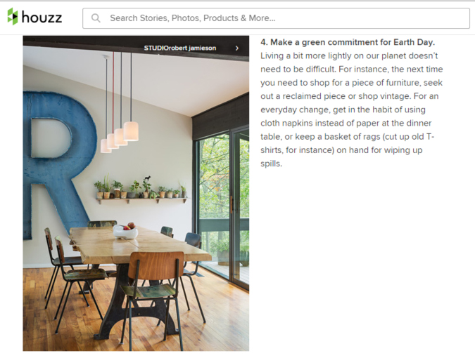 UPPER MAIN LINE RESIDENCE called out for sustainability on HOUZZ