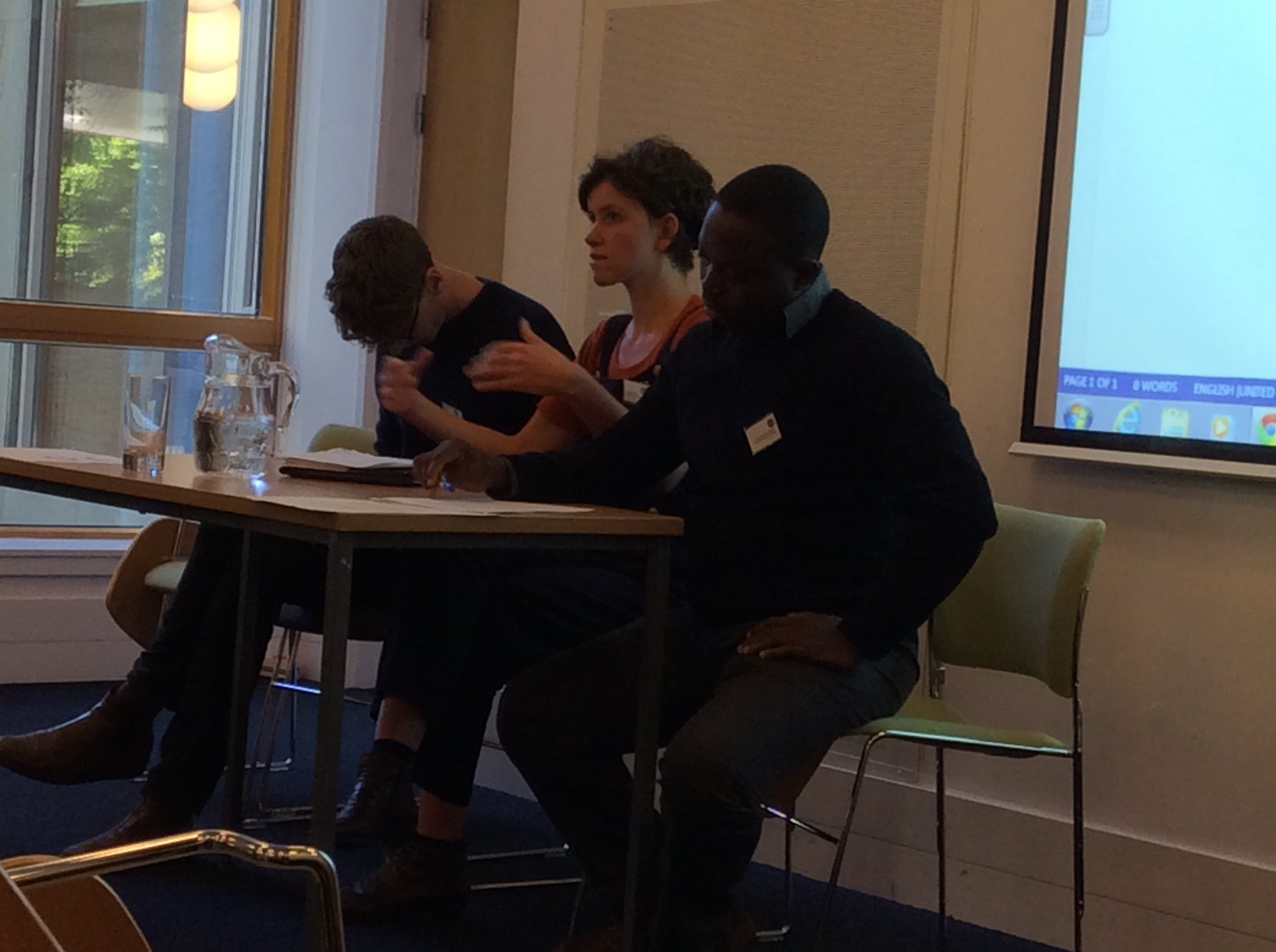 Answering questions, Sarah Jane Cooper Knock, Muriel Côte and Famoye ABiodun Daniels.jpeg