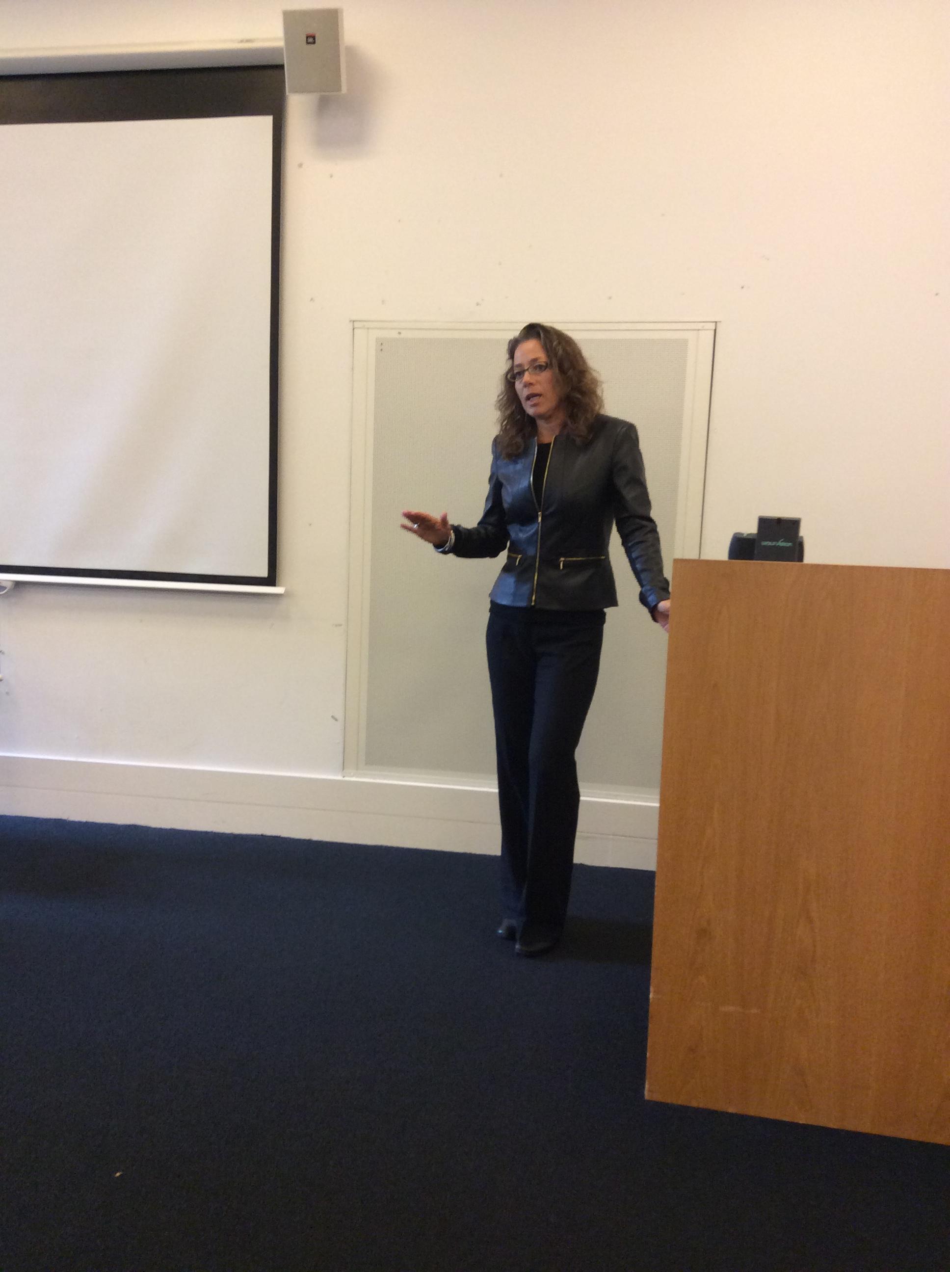 Professor Rita Abrahamsen giving the keynote speech .jpeg