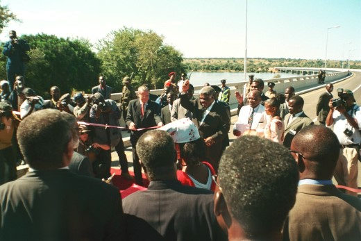 Bridge ribbon cut