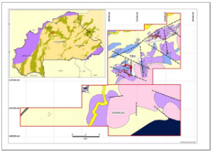 Exploration concessions included in Orezone's SEGA project zone (Orezone 2010)