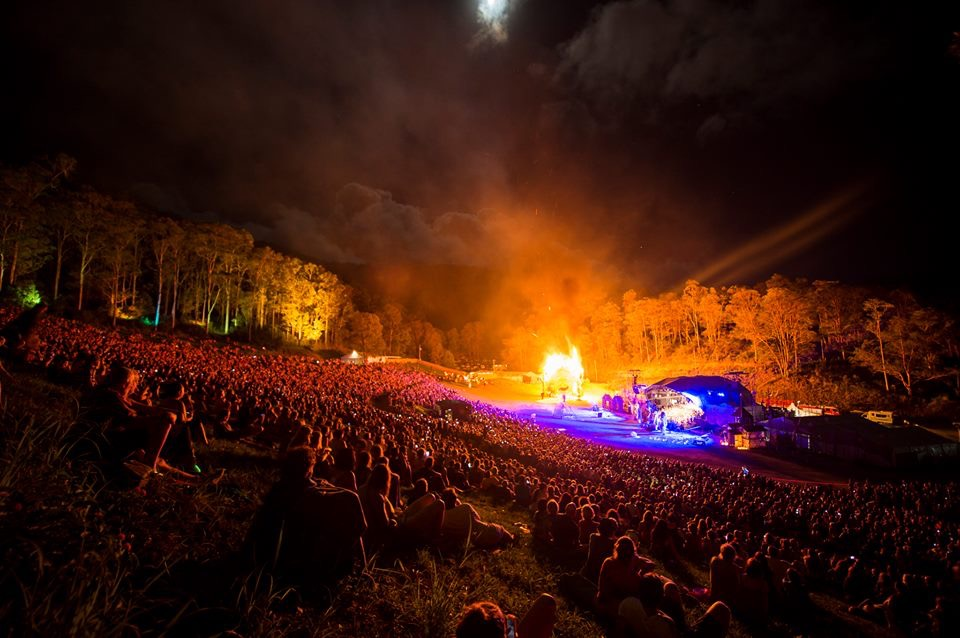 Amphitheatre, Fire Event - Photo from Woodford Folk Festival Facebook page