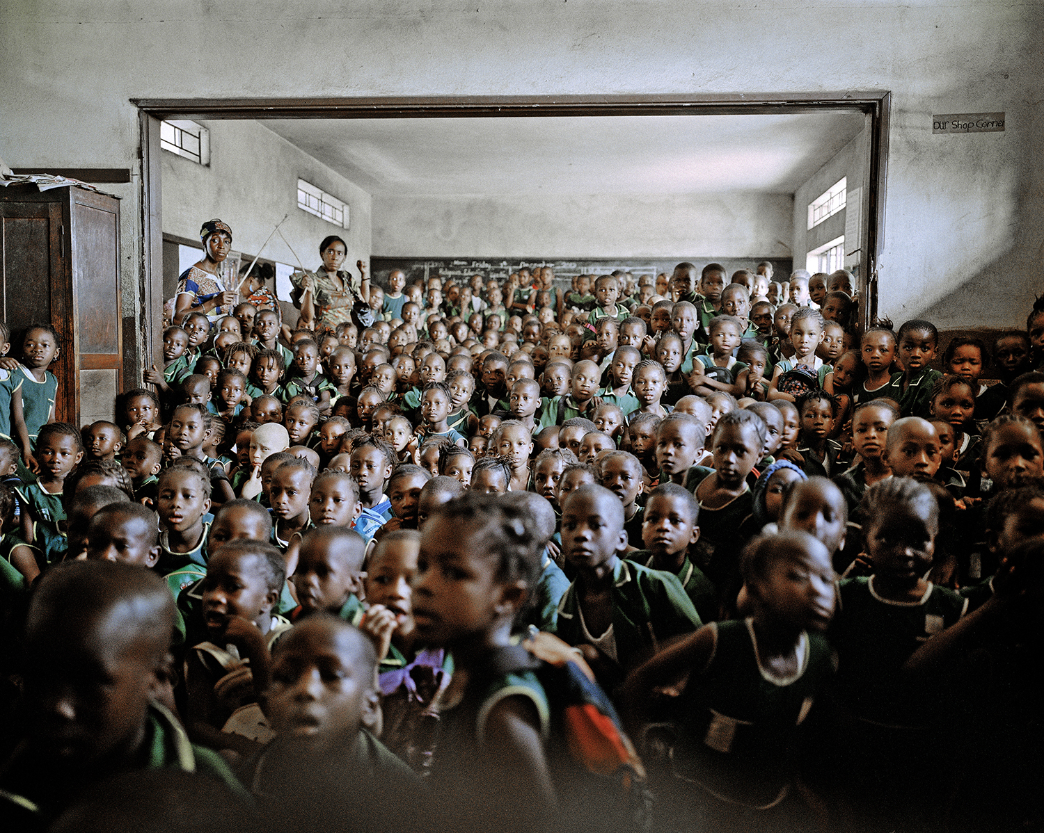 Cholera education. Holy Trinity Primary School, Freetown, Sierra Leone, 2012.