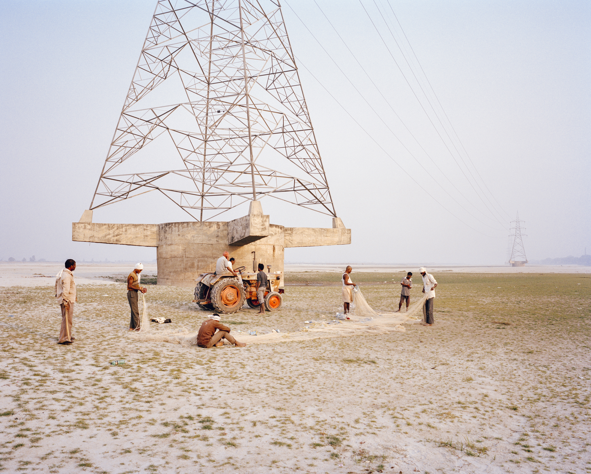 Dry Ganges river bed. Kanpur, India, 2014.