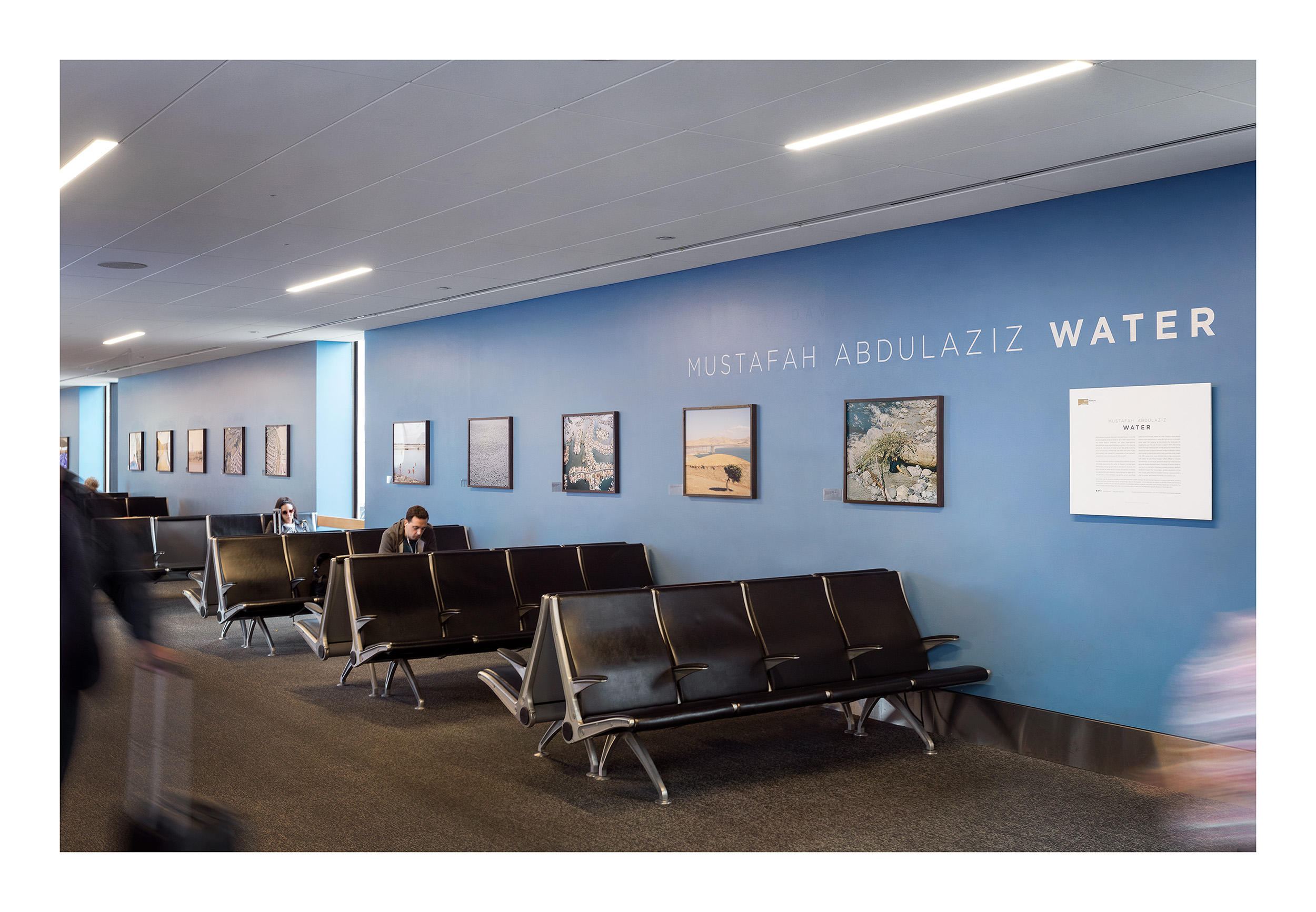 Water: California , August 7 to October 31, 2017, San Francisco International Airport, San Francisco, USA.