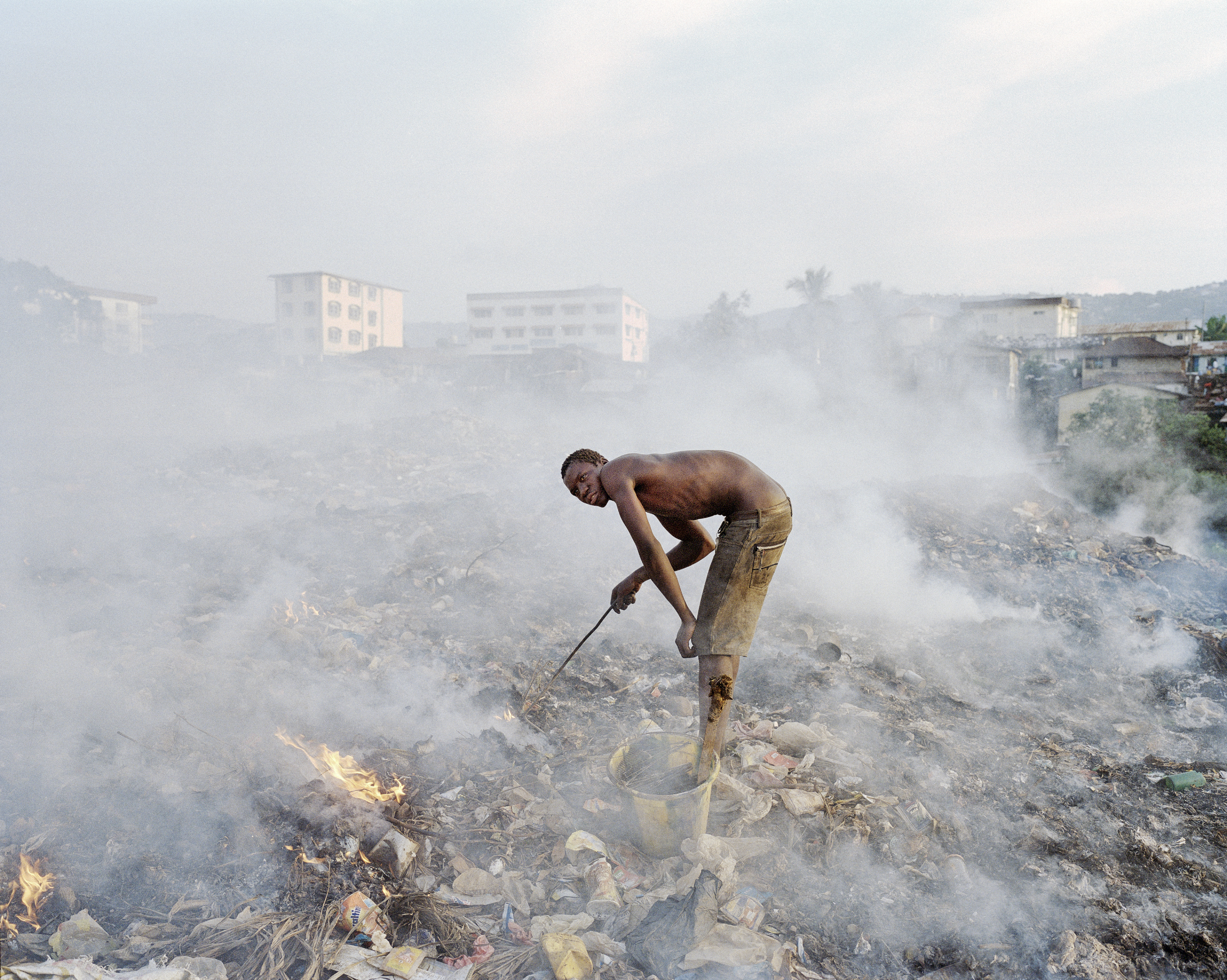 Grey Bush dumpsite, source of stagnate water and malaria. Freetown, Sierra Leone, 2012.
