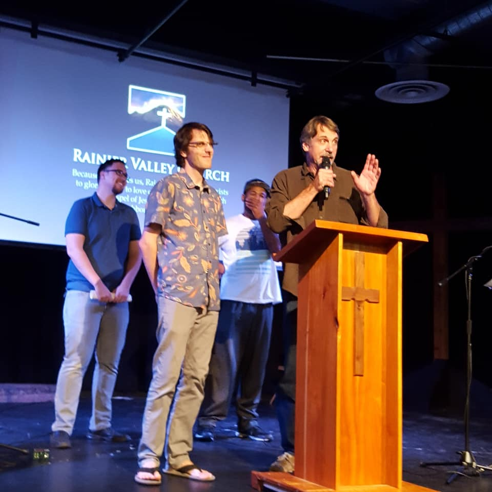 Doug Foreman Sharing Stories about John Keay at his send-off ceremony at Rainier Valley Church on August 5th, 2018