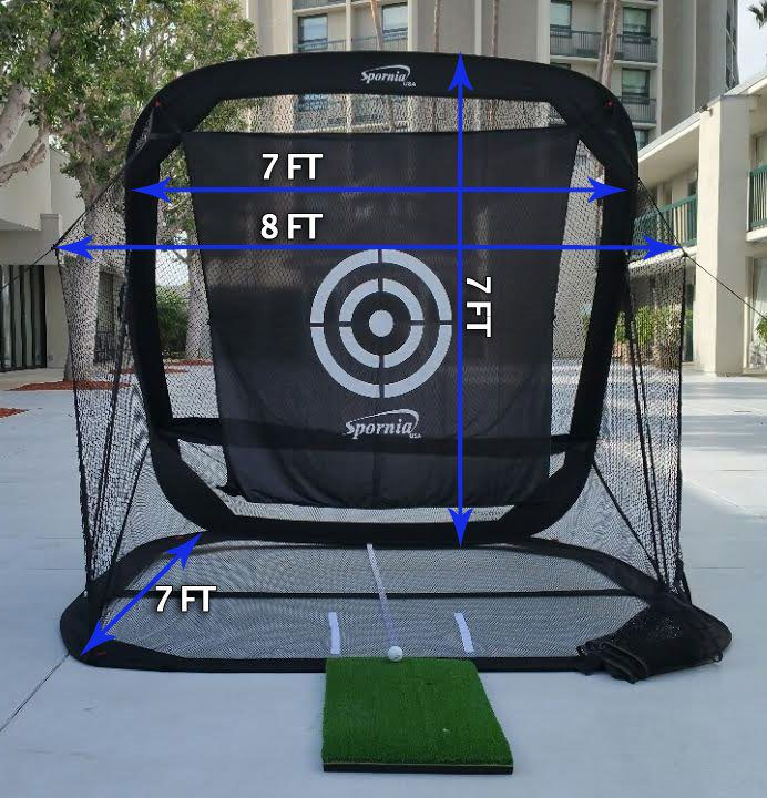 Spornia hitting net for inside swing training.