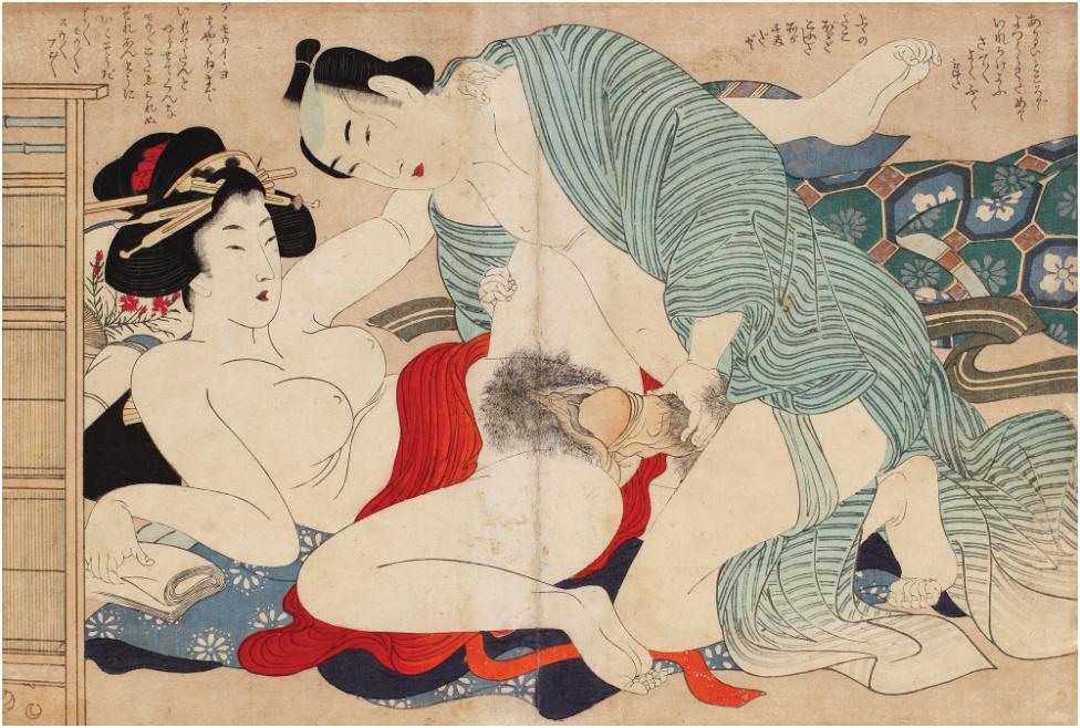 Estampe érotique , Hokusai