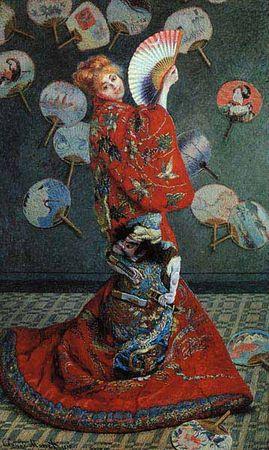 La Japonaise, Madame Monet en costume japonais, Monet , 1876, 232 x 142, Musée des Beaux-Arts de Boston
