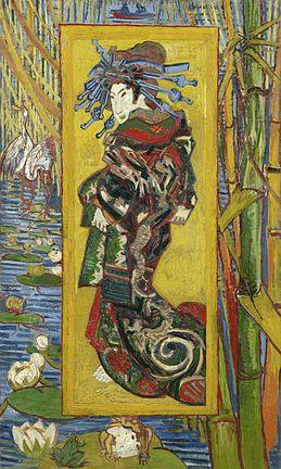 La Courtisane , Van Gogh, 1887, huile sur toile, 105,5 x 60,5, Amsterdam, Van Gogh Museum