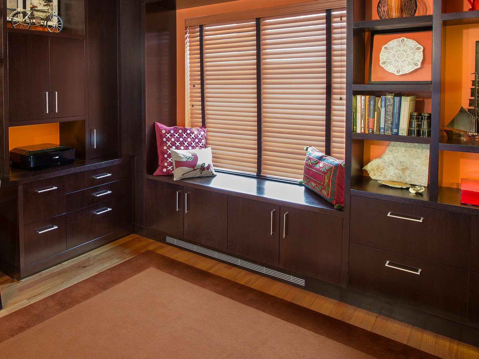 Rich & Cozy Home Office