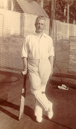 Abe Bailey, the cricket-crazy financier,  here seen as the captain of Transvaal