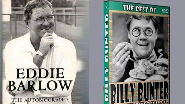 Eddie Barlow (left) acquired the nickname Bunter from the comical fictional character Billy Bunter (right)