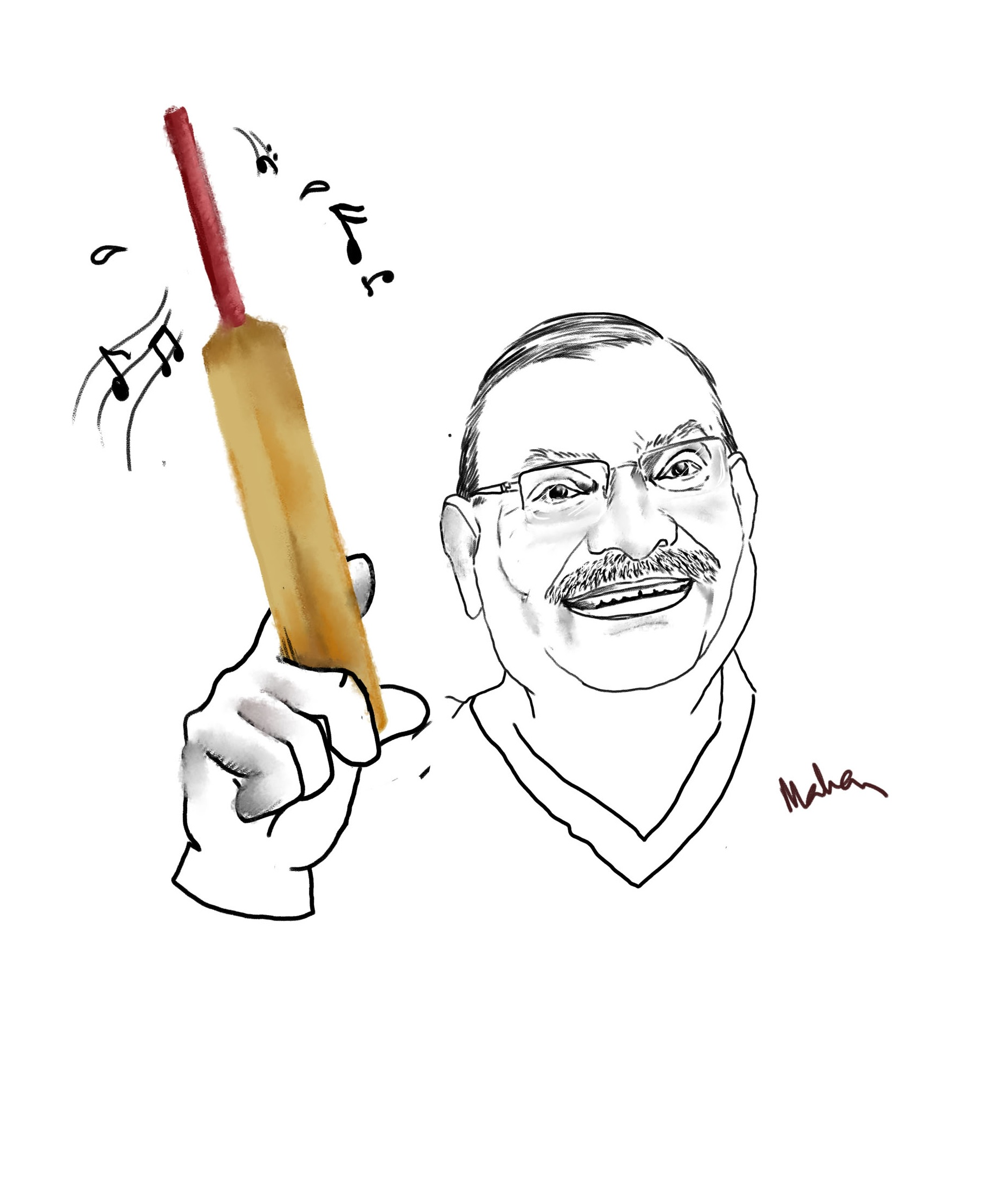 Pradip Dhole - The Doctor with a thing for cricket, a la WG