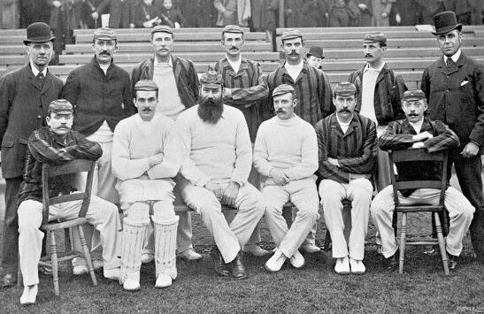 The 1891-92 England side in Adelaide.