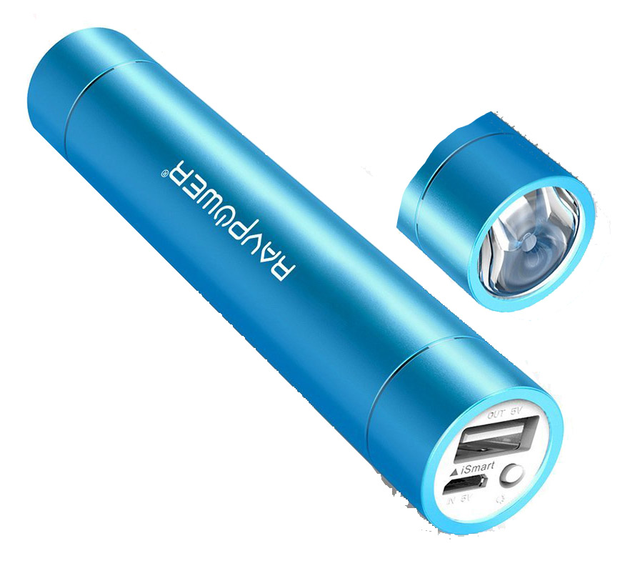 RAVPower - Portable Charger 3200mAh Battery w/ Flashlight