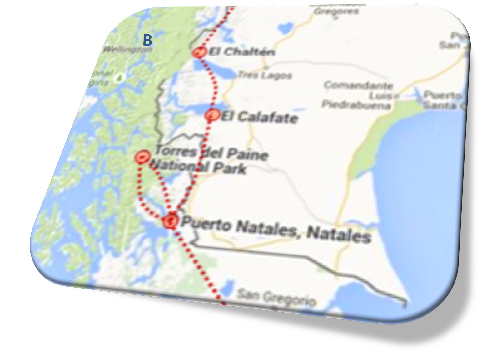 Part B Patagonia Route (see map above)