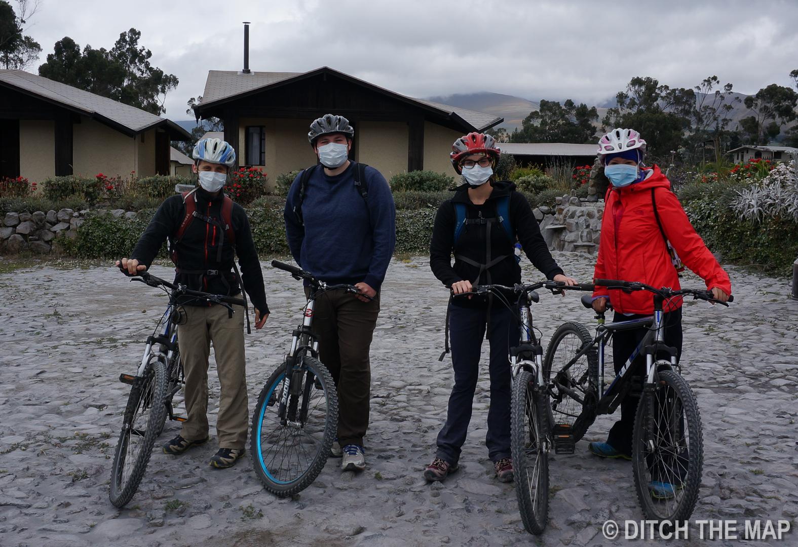 We go mountain biking near the Volcano in Cotopaxi, Ecuador
