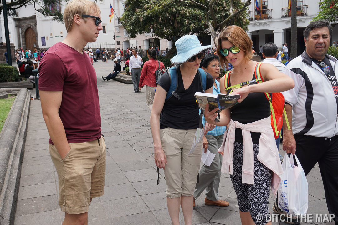 Our New Friends Christine and Harold in Old Town Quito, Ecuador