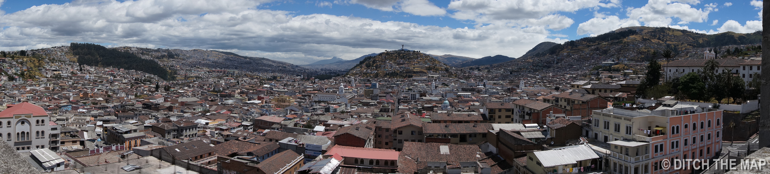 A View of Old Town in Quito, Ecuador