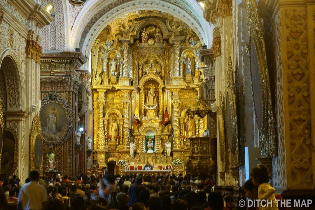 La Compania De Jesus Church in Quito, Ecuador
