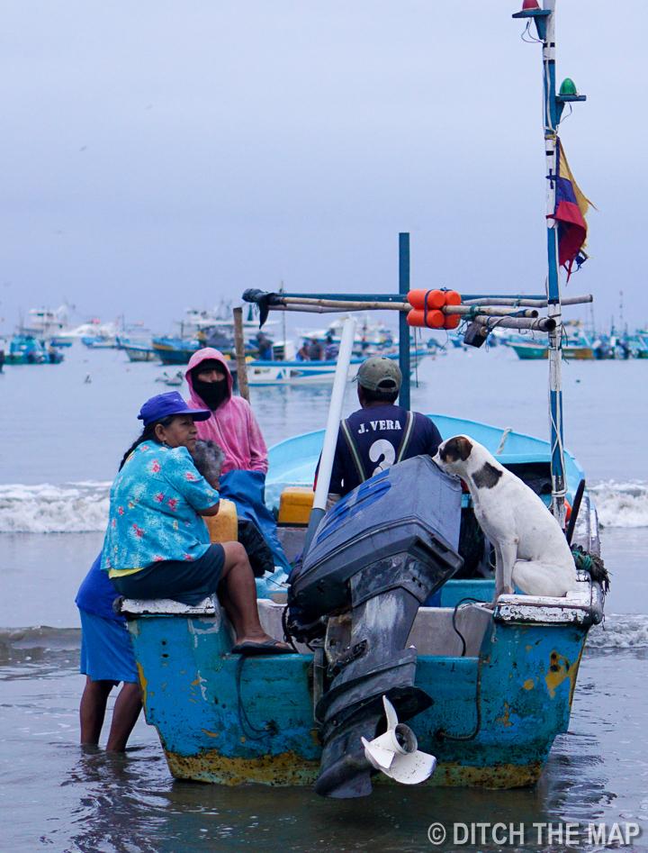 Fishermen in Puerto Lopez, Ecuador