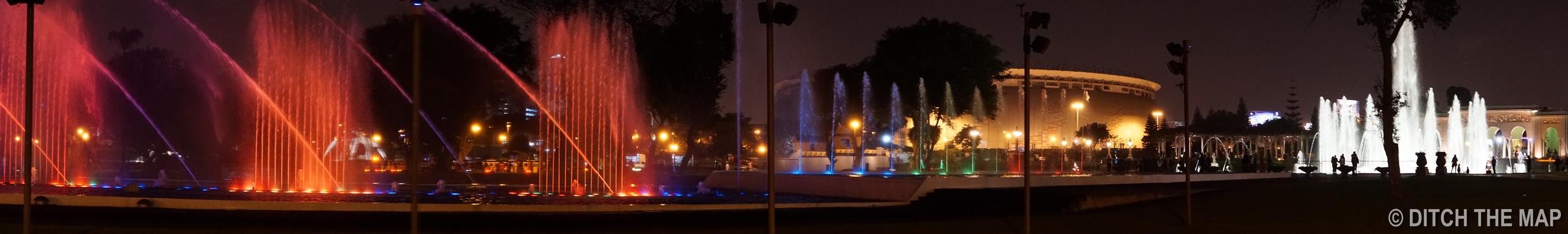 Magic Water Circuit in Lima, Peru