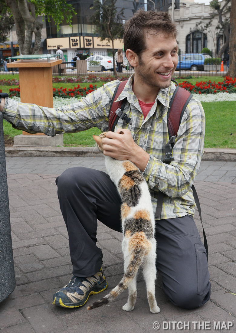 At Parque Central in Mira Flores, Lima, Peru