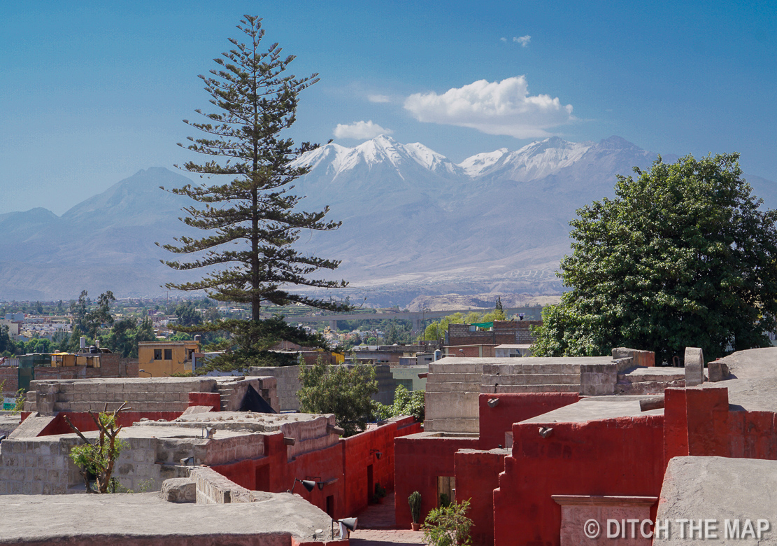 View of nearby mountains in Arequipa, Peru