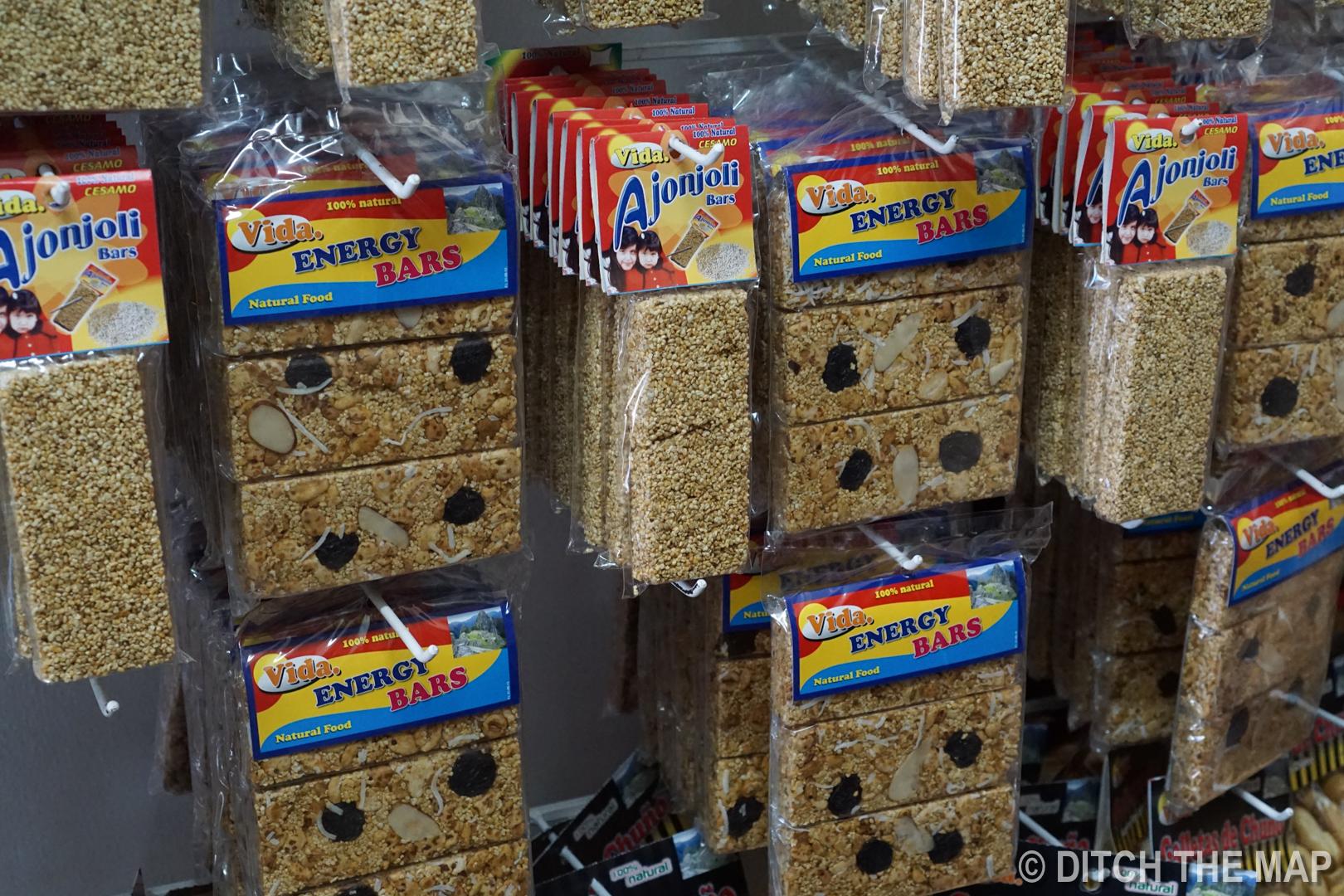 "Typical ""energy bar"" snacks found in Peru"