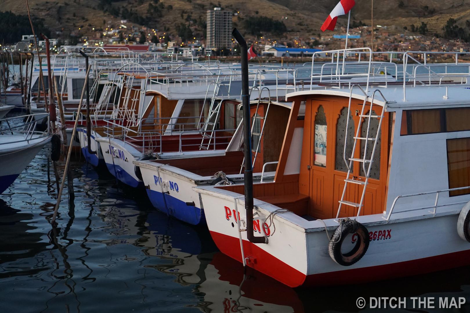 Lake Titicaca Dock in Puno, Peru