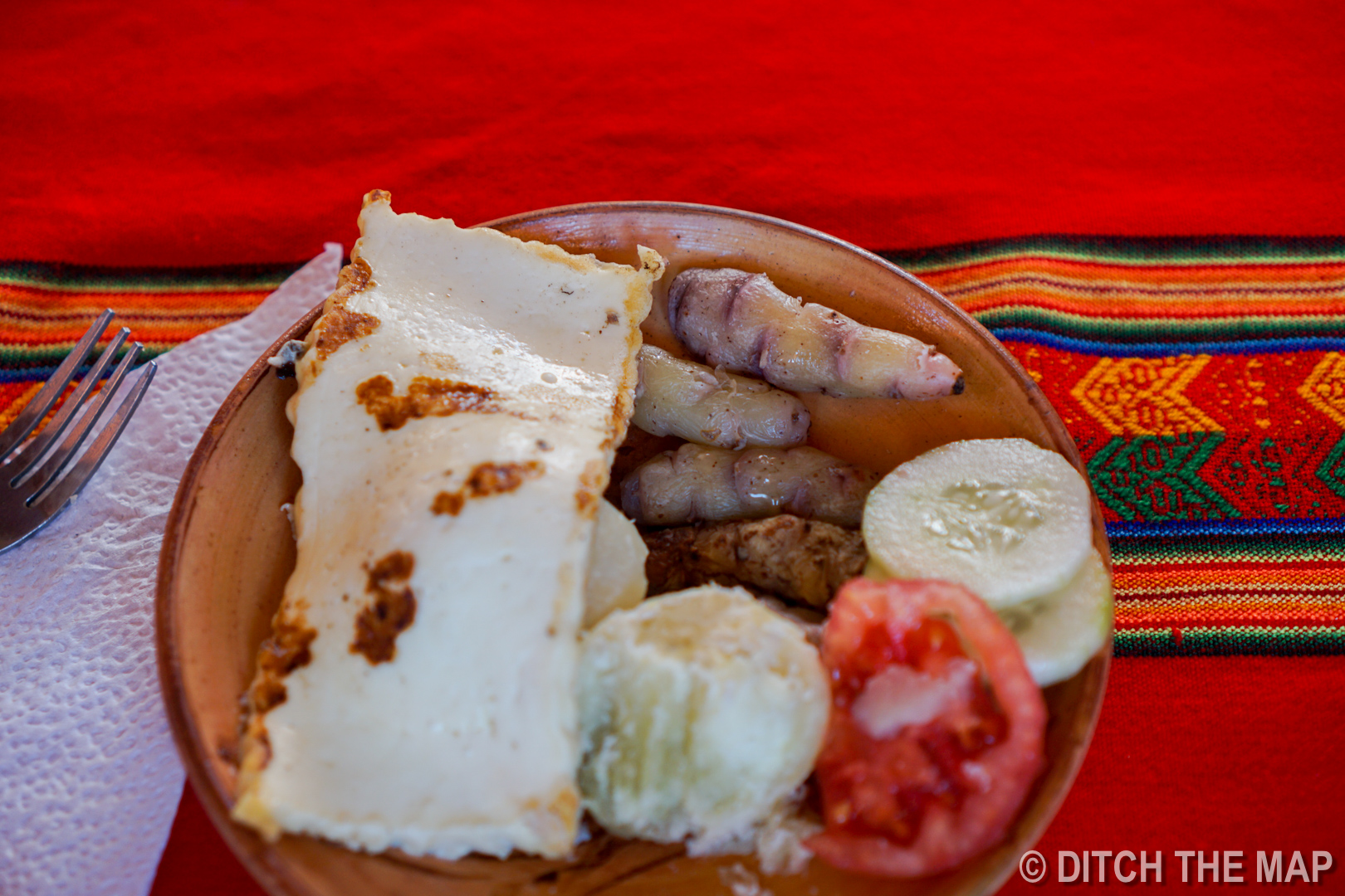 Our lunch we ate during our homestay on Amantani Island on Lake Titicaca, Peru