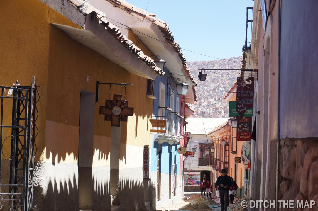 Jean Street in La Paz, Bolivia