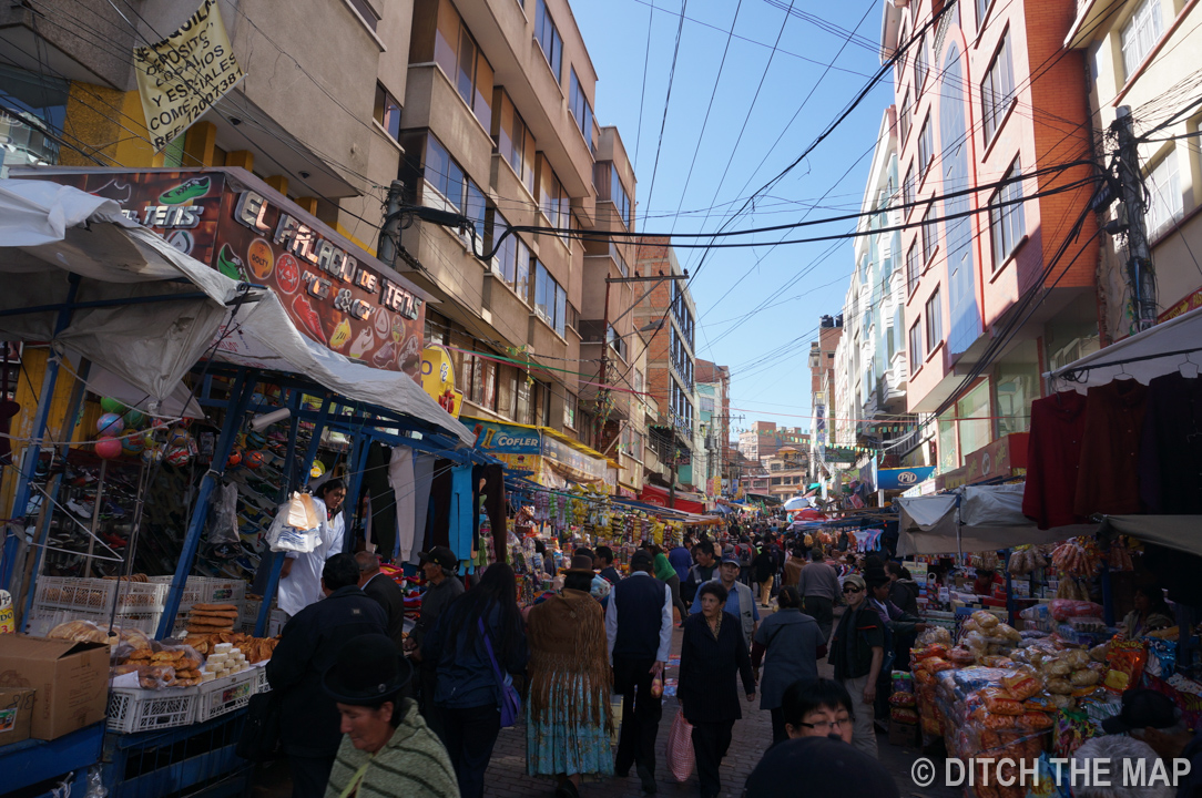 Markets in La Paz, Bolivia