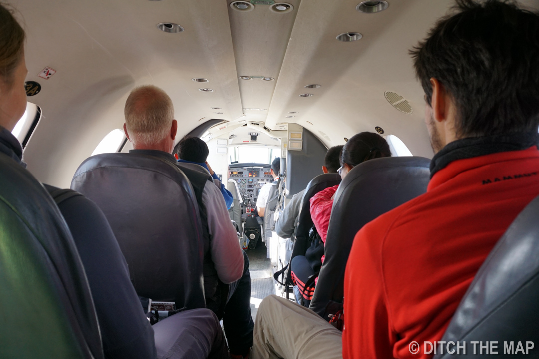 Aboard our small aircraft to Rurrenabaque, Bolivia