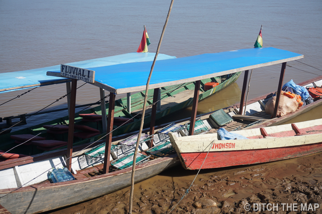 Getting ready for our 3-hour boat ride to the Amazon Jungle, Bolivia