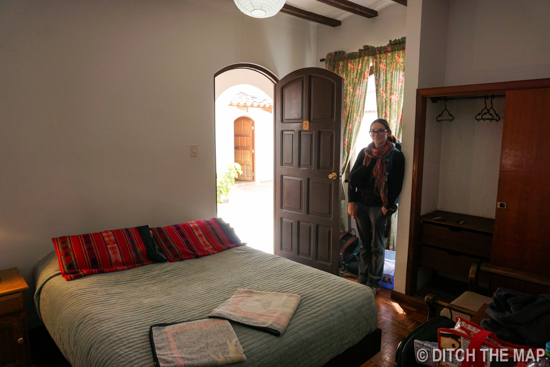 Our hotel room in Sucre, Bolivia