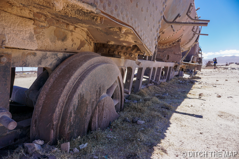The Train Graveyard in Salar de Uyuni,Bolivia