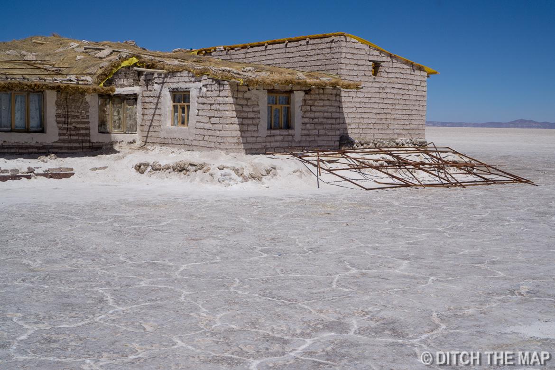 Salt hotel in Salar de Uyuni, Bolivia