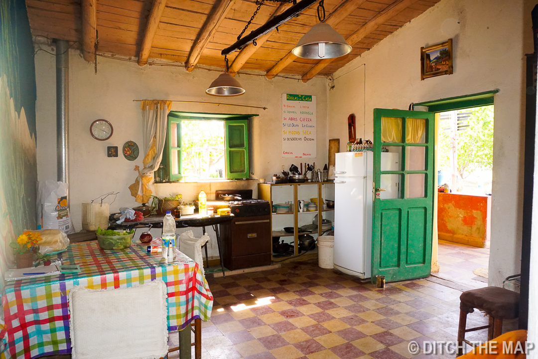 Our kitchen in our farmhouse in Tupungato, Argentina