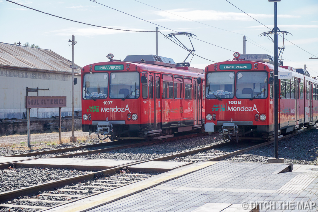 Taking a tram to get to Maipu, Argentina