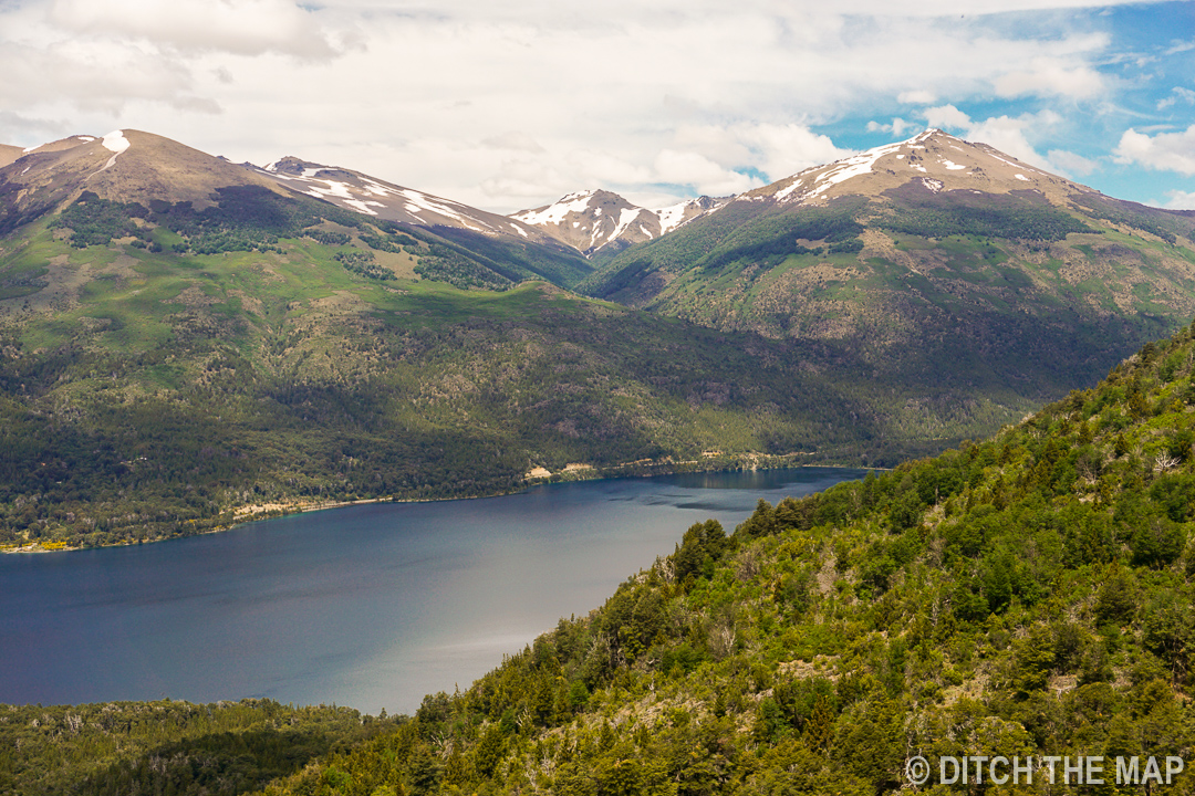 The view we had during our lunch break en route to Refugio Frey outside of Bariloche, Argentina