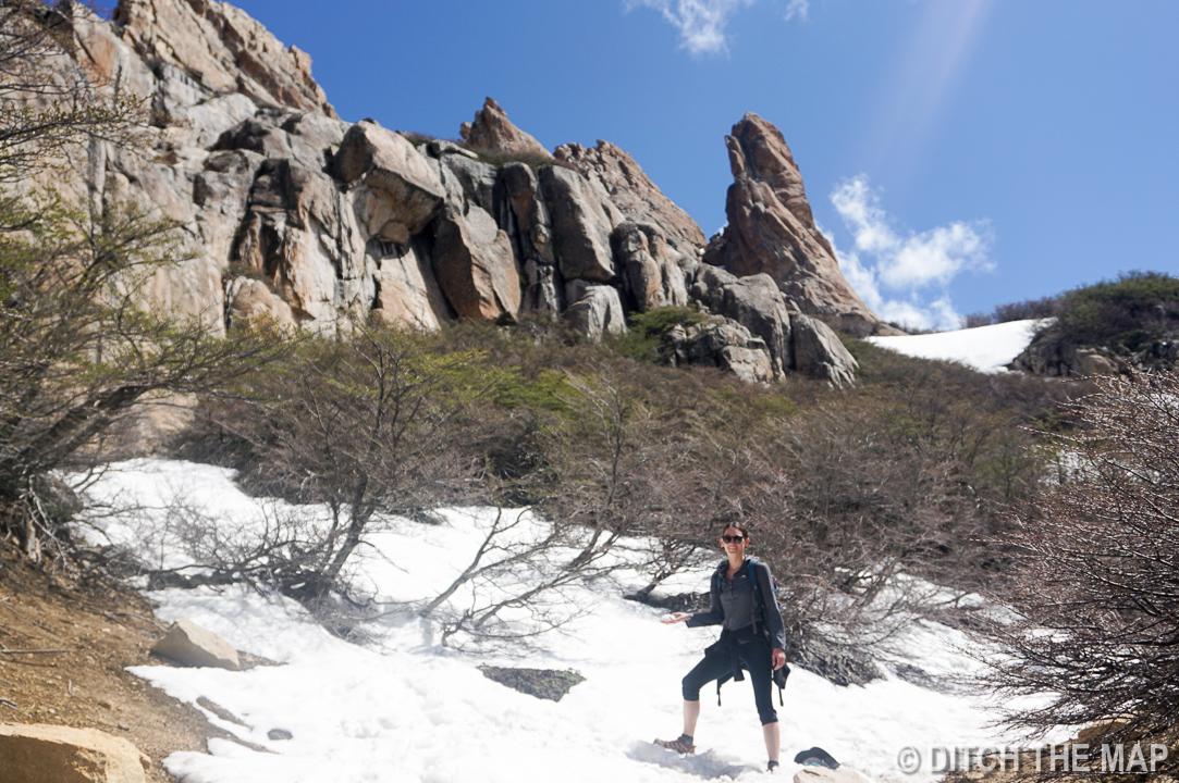 Making our way to the top of Cerro Catedraloutside Bariloche, Argentina