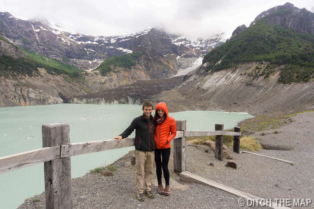 Us at the black glacier outside Bariloche, Argentina