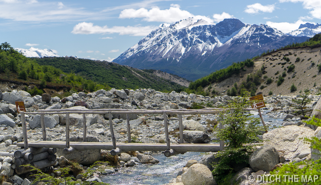 One of the many water crossings on our way to Mt. Fitz Roy in El Chalten, Argentina