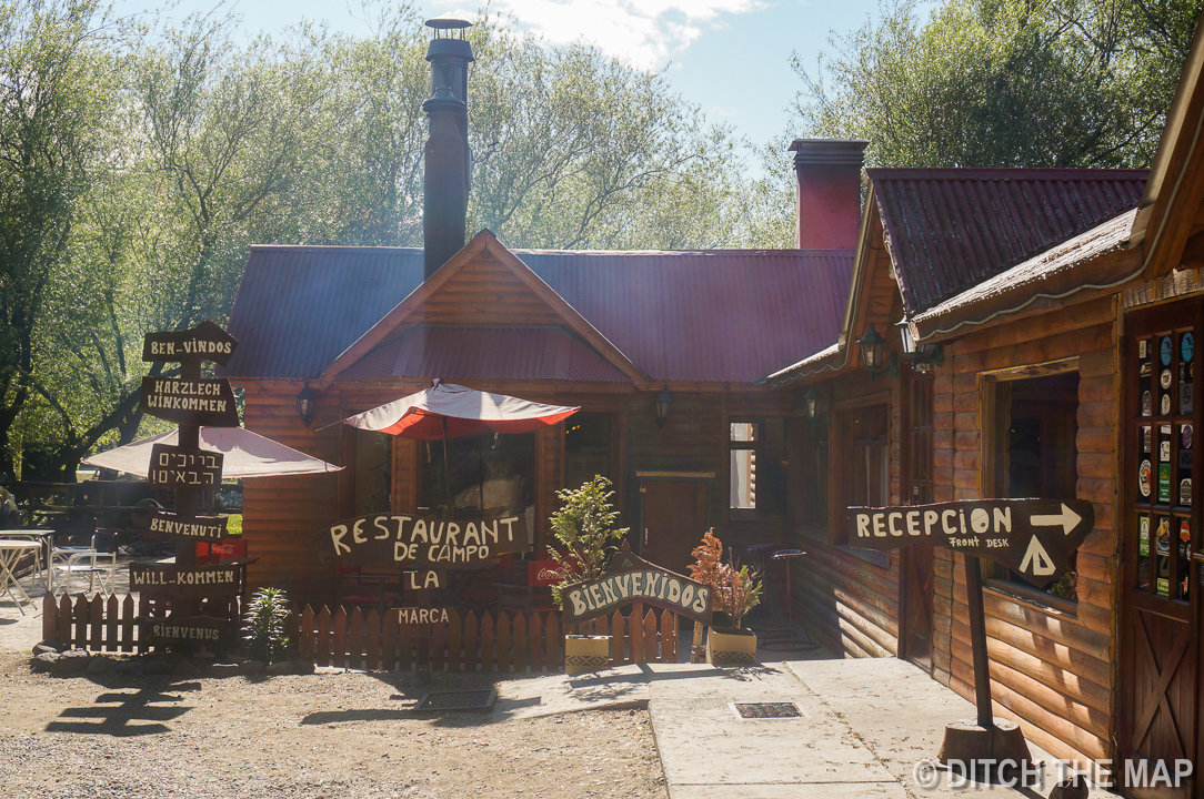 The front of our hostel in El Calafate, Argentina