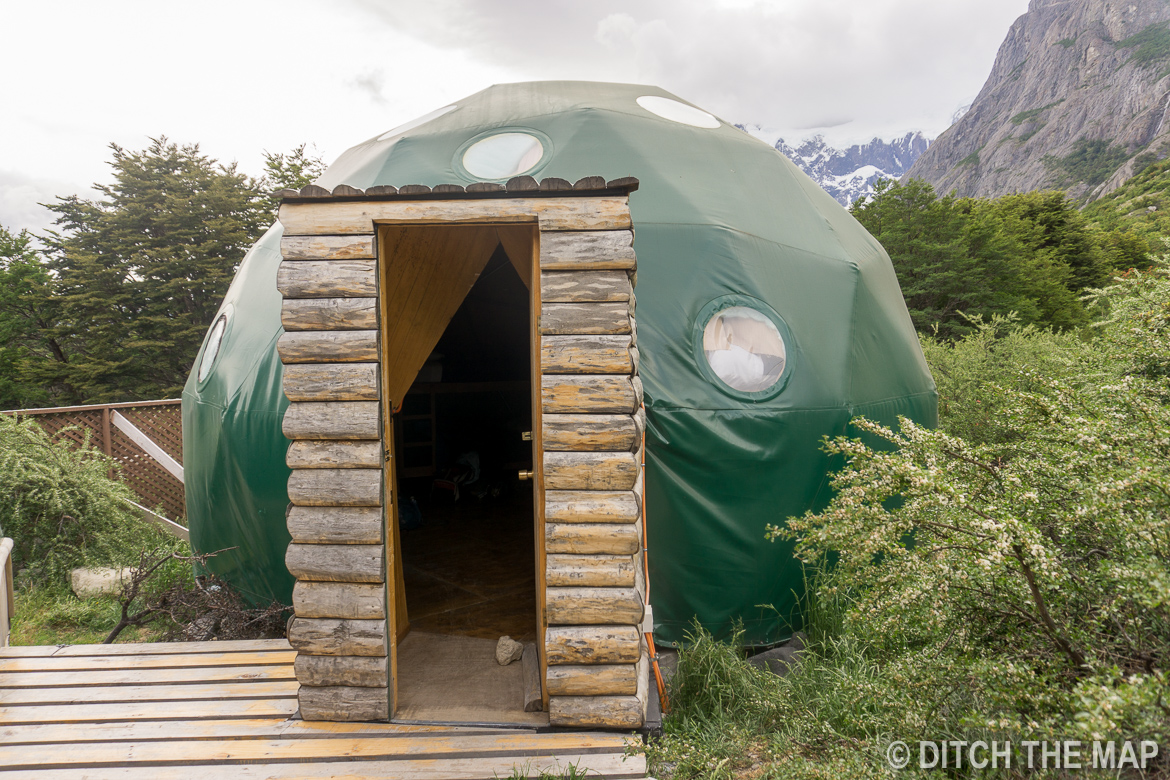 Our lodging the 3rd night during the W-Trek in Torres del Paine, Chile